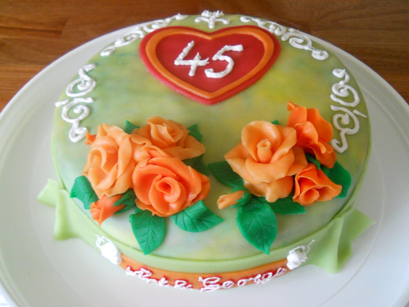 taart 45 jaar getrouwd Angel`s heart: Taarten en cupcakes taart 45 jaar getrouwd