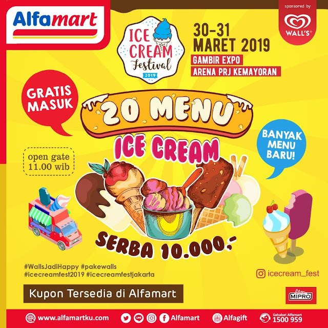 #Alfamart - #Promo Event Ice Cream Festival 2019 & Nikmati 20 Menu Ice Cream (30 - 31 Maret 2019)