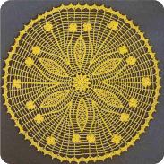 Tapete ramillete de flores a Crochet