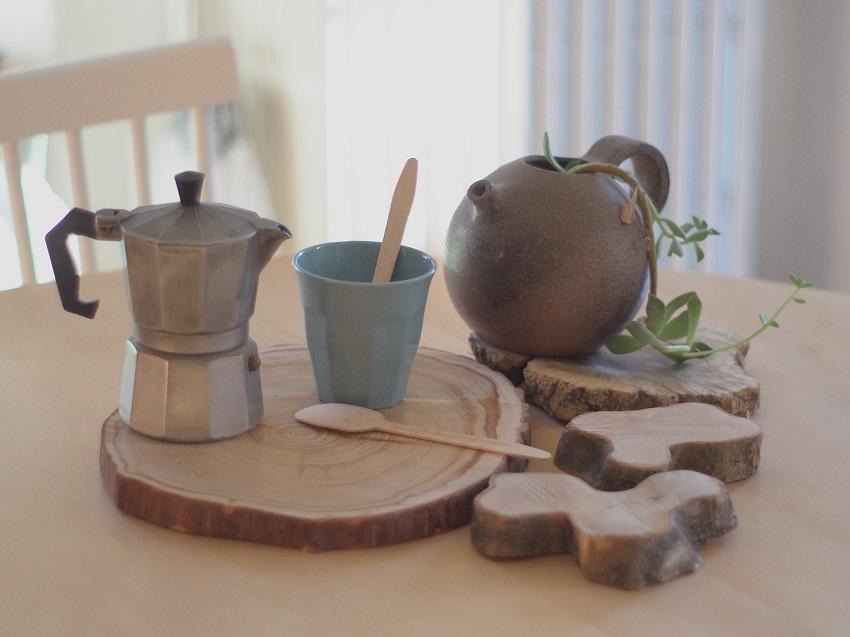 diy des plateaux et dessous de plats naturels un atelier au fond des bois. Black Bedroom Furniture Sets. Home Design Ideas