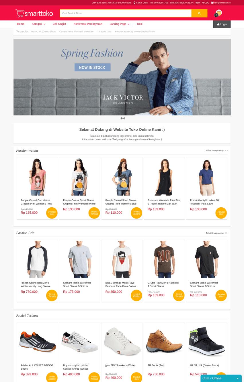 halaman depan smart toko v9 - home page