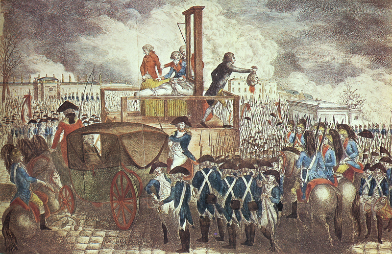 Execution of Louis XVI from an English engraving, 1798