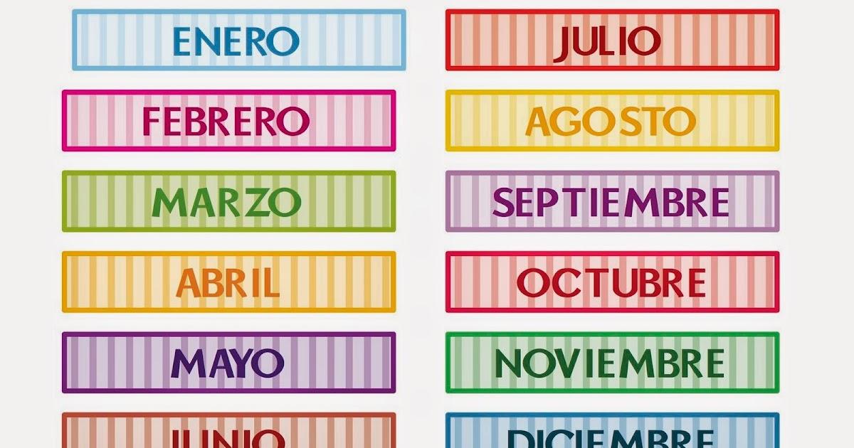 Blog Di Spagnolo Meses Del Ano 1a