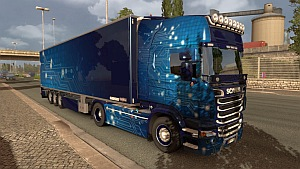 Blue Technology Scania R skin + trailer