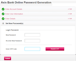 axis net banking activate