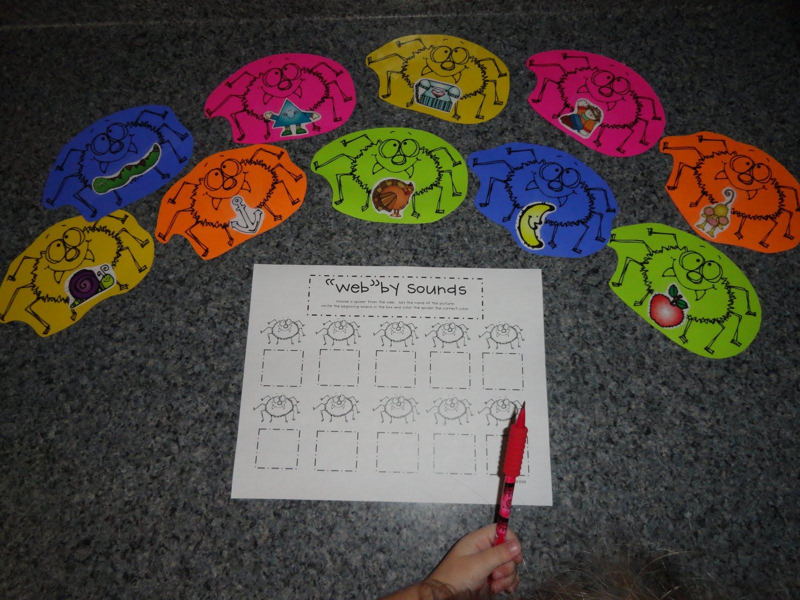 Izzie Mac And Me Kindergarten Spider Activities