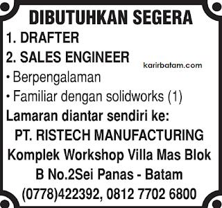 Lowongan Kerja PT. Ristech Manufacturing