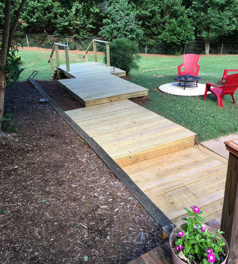 Wood Walkways: Real Girl's Realm: How To Create A Wooden Walkway In Your Yard