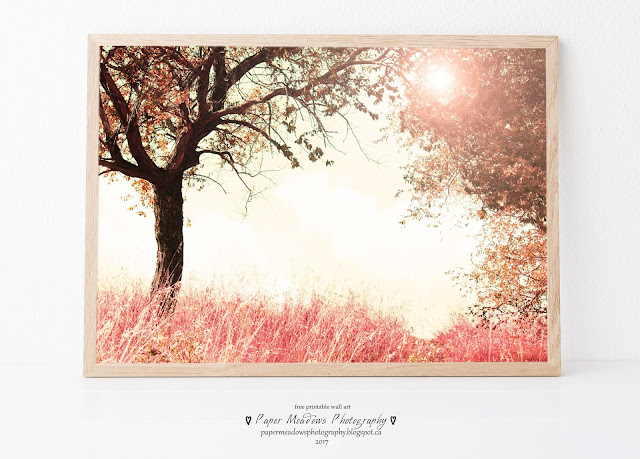Paper Meadows Photography Blog-Free Printable Nursery Wall Art-Pink Fairy Tale Forest