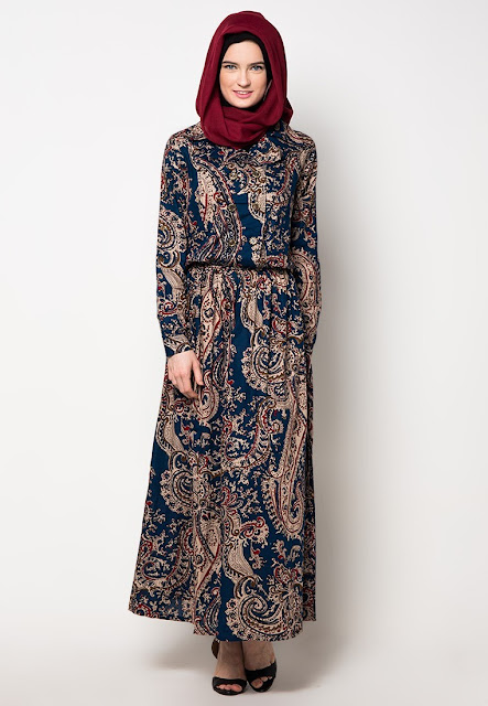 Inspirasi Gamis Batik yang Keren dan Trendi 2018