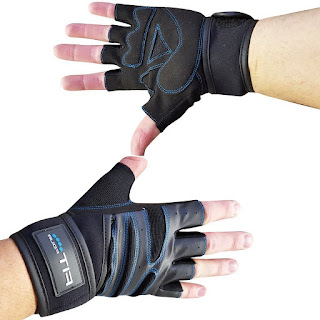 Fit Four F4W Weightlifting Glove with Wrist Support - Gloves For Workout, Weight Lifting Cross Training and Crossfit - Men and Women