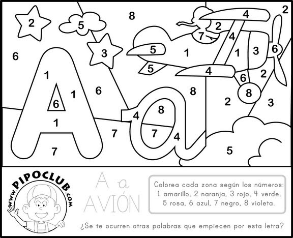 Numero 13 Para Colorear: Actividades Y Ejercicios Para Infantil Y Primaria: Colorea