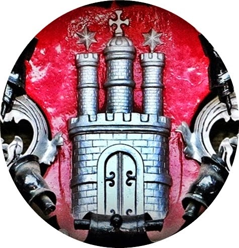 Hamburg Wappen, Ausschnitt von Wappen am Hamburger Rathaus