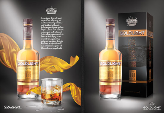 Whisky Bottle Mockup PSD