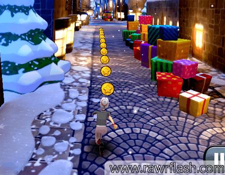 Jogos de Natal, ação, corrida, velha fugindo no natal: Angry Gran Run Christmas Village.