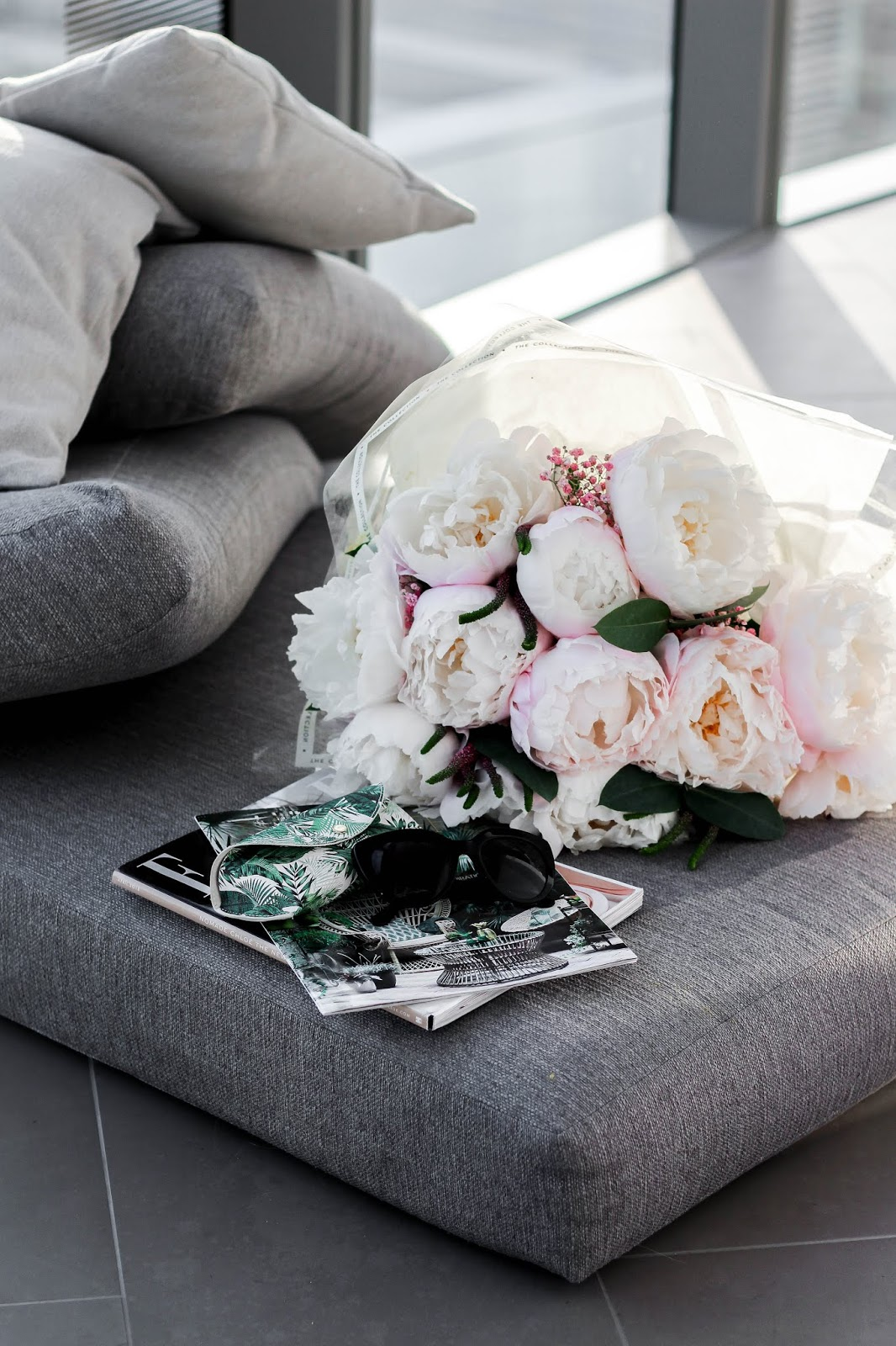 M&S Summer Bouquet Pink White Peonies 2018