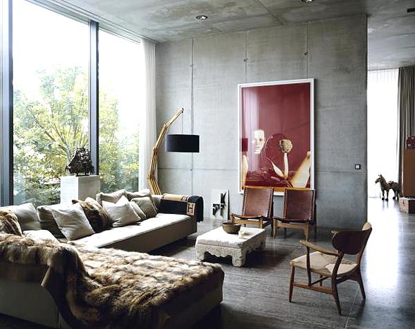 pictures industrial astounding chic living room decor   Residence Design: Industriell inredningsstil har snygga ...