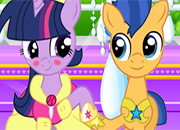 My Little Pony Twilight And Flash Kissing juego