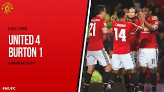 Manchester United vs Burton Albion 4-1 Highlights Piala Liga Inggris