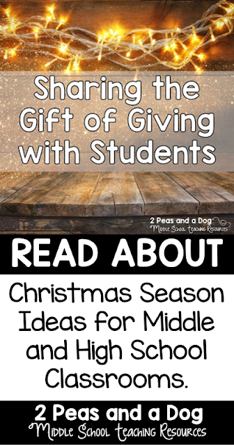 Help students in middle school and high school think about why it is important to give rather than get during the holiday season.