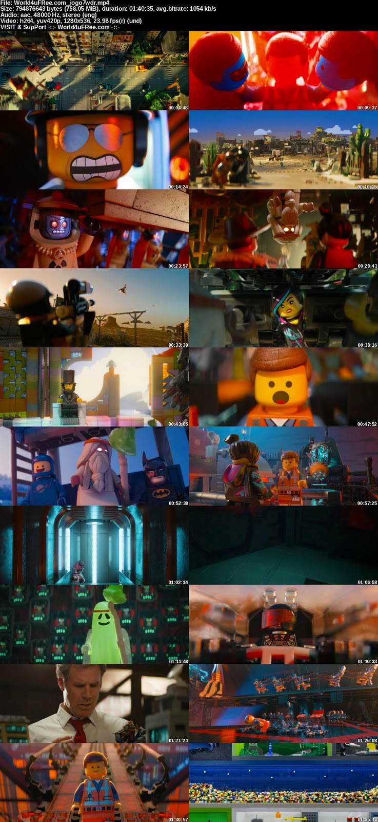 The Lego Movie 2014 720p BRRip 750mb YIFY