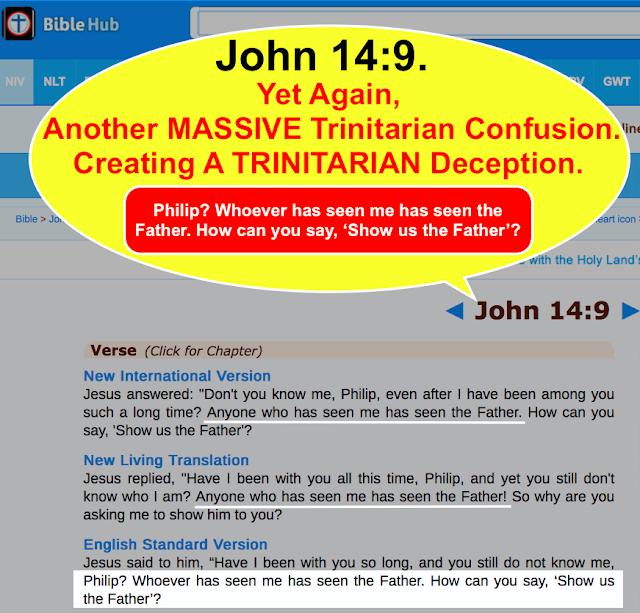 John 14:9, Trinitarian misunderstanding.