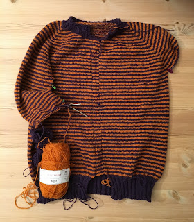722bfae0 Hverdagsjakka til Pinneguri strikket i finull.