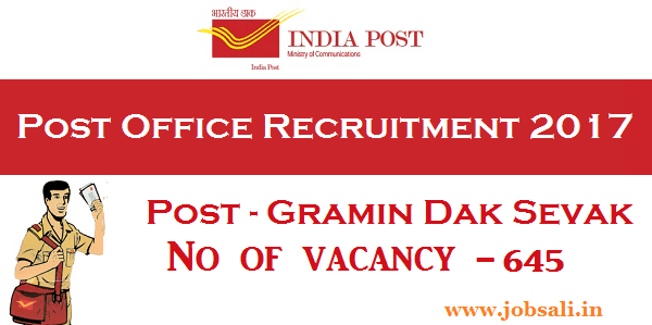 post office Gramin Dak Sevak Vacancies, Post office jobs in Telangana, Postal Recruitment