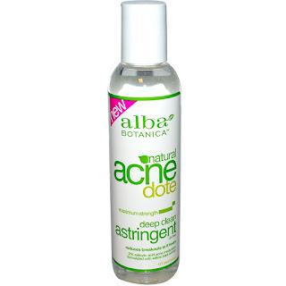 تونر سائل مطهر للبشرة ومعالج جيد للحبوب من اي هيرب Alba Botanica, Natural Acne Dote, Deep Clean Astringent, Oil-Free, 6 fl oz (177 ml)