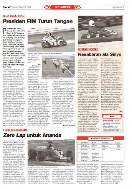BALAP GP MOTOR: KASUS BIAGGI-ROSSI PRESIDEN FIM TURUN TANGAN