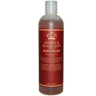 جل الاستحمام بزيت الحبه السوداء Nubian Heritage, Body Wash, Honey & Black Seed, 13 fl oz (38