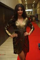 Pooja Hegde looks glamarous in deep neck sleevless short tight golden gown at Duvvada Jagannadham thank you meet function 014.JPG