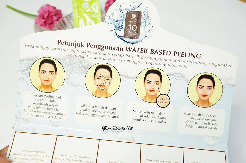Cara menggunakan  V10Plus Water Based Peeling Facial Mask