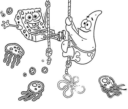 Halaman Mewarnai Spongebob Untuk Anak Anak