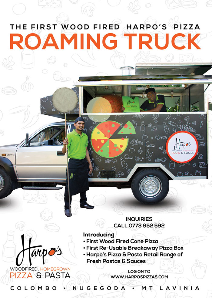 Harpos Pizza | Now! Wood fired Harpo's Pizza Roaming Truck in Moratuwa Daily 5:30 pm