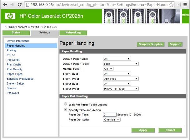HP Color LaserJet CP2025: L'imprimante lance des nettoyages ou se met en bourrage lors d'impressions multiples