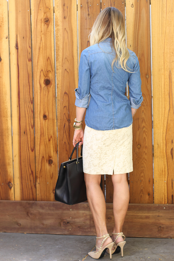 chambray top nordstrom