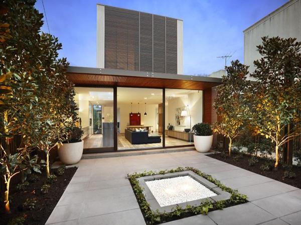 Hogares frescos casa de inspiraci n contempor nea con un for Casa jardin 8 de octubre