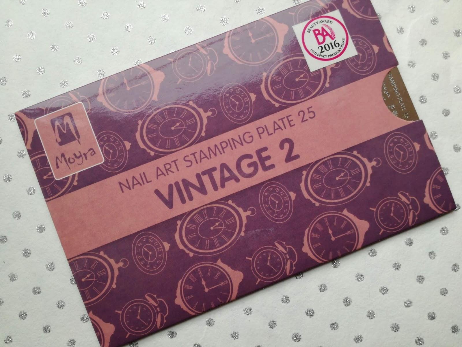 Moyra Nail Art Stamping Plate 25 Vintage 2
