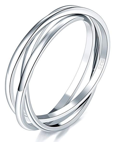 Sterling silver fidget ring makes a great stocking stuffer for women