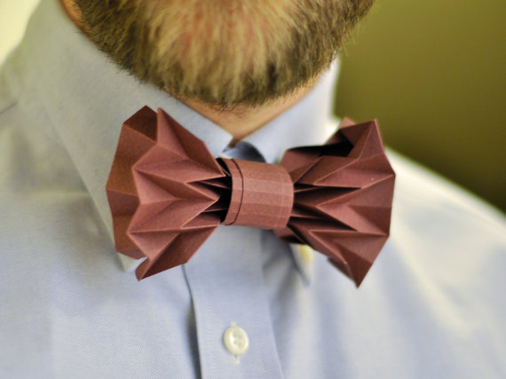 Diy Folded Paper Bow Tie
