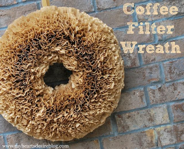 Coffee Filter Wreath Tutorial - Amanda Jane Brown
