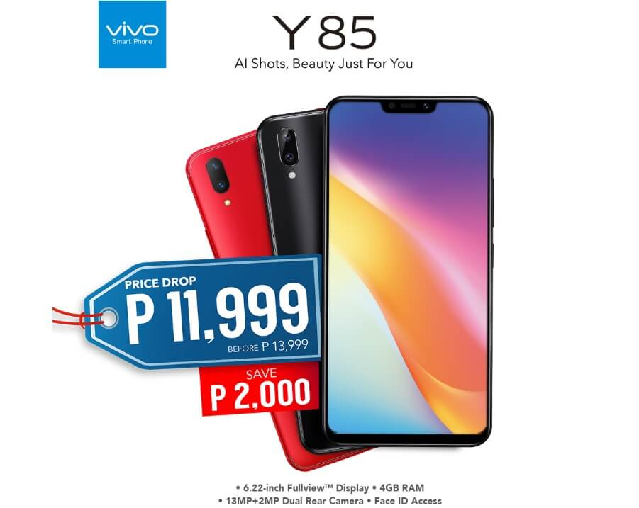 Vivo Y85 with Octa Chip, 4GB RAM and Dual Rear Camera Now Only Php11,999!