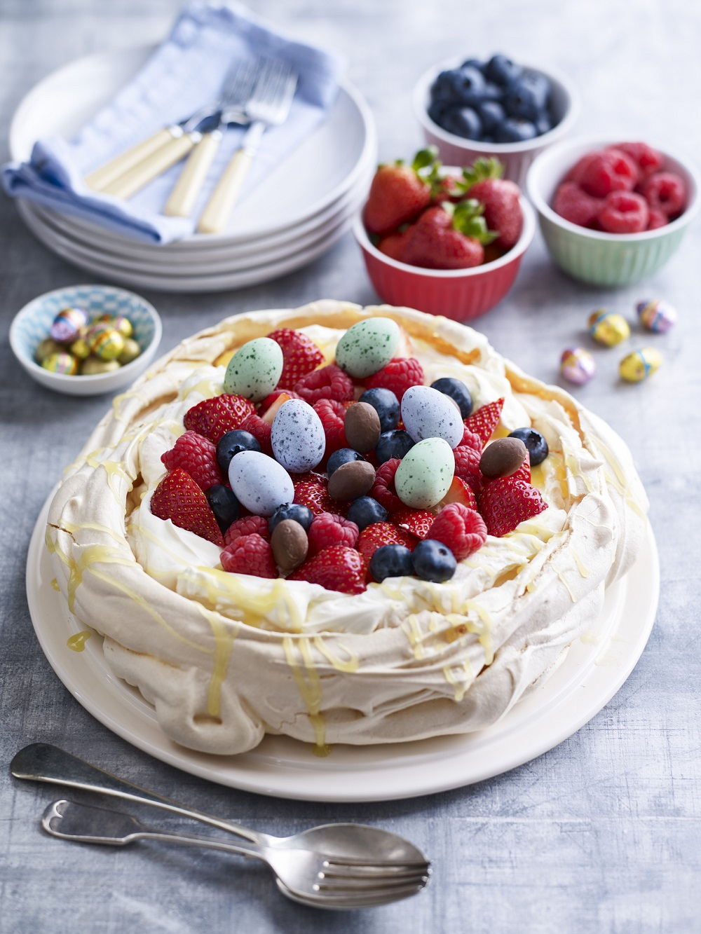 Mixed Berry Pavlova For Easter
