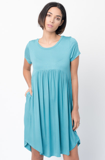 Shop for Mint Tee tunic dress  u neck and a full skirt  Online - $44 - on caralase.com