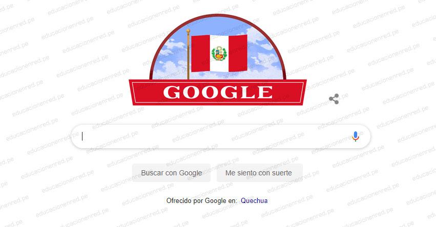 FIESTAS PATRIAS: Google celebra la Independencia del Perú con vistoso «doodle» www.google.com.pe