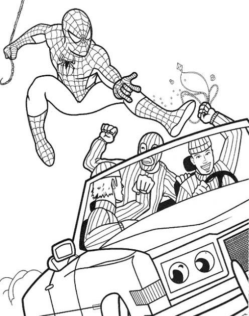 Fun Coloring Pages: Spider Man Coloring Pages