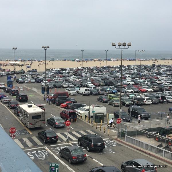 oceanfront parking lot at Santa Monica Pier in Santa Monica, California