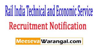 RITES (Rail India Technical and Economic Service) Recruitment Notification 2017