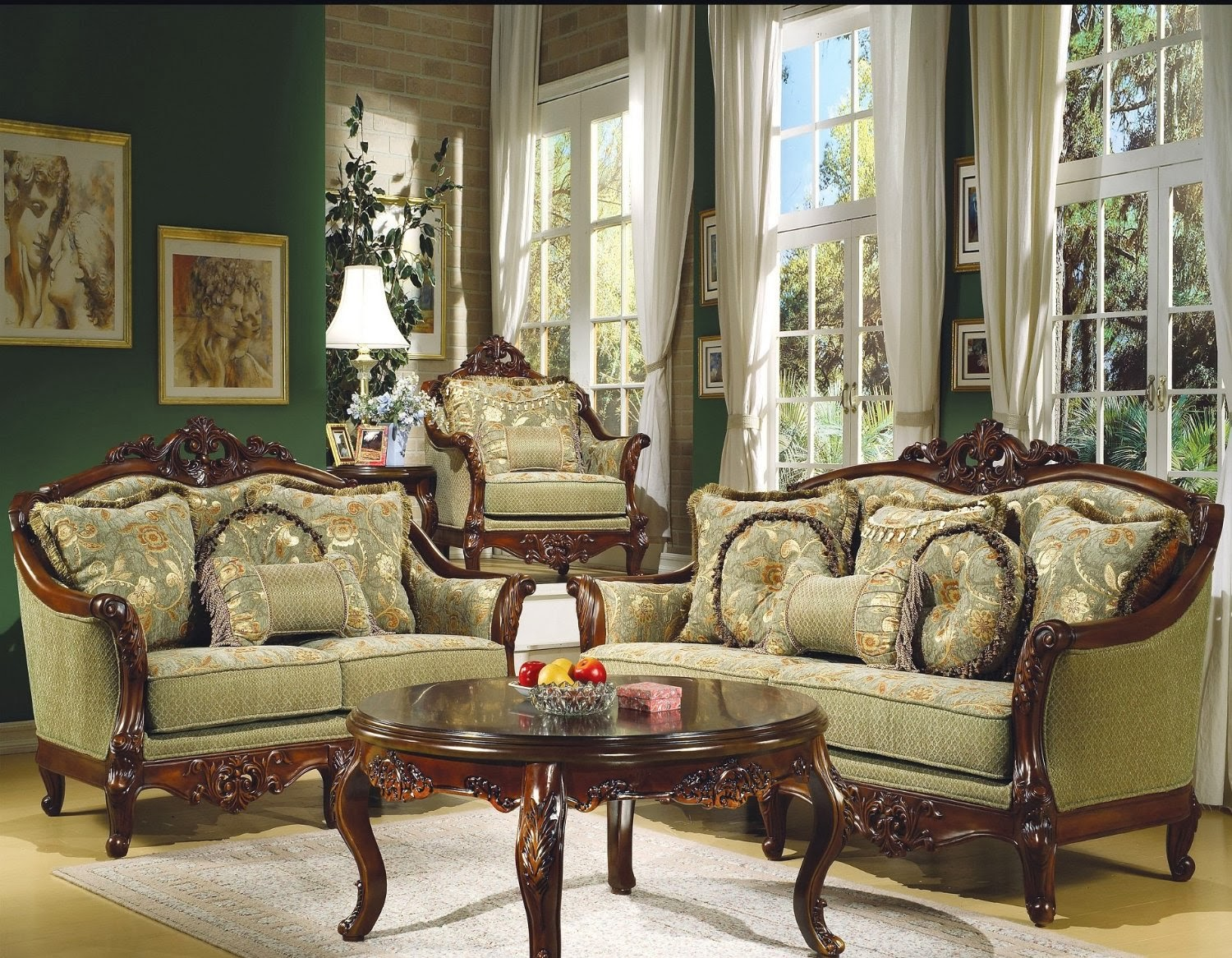 Antique victorian sofa set victorian sofa set - Elegant formal living room furniture ...